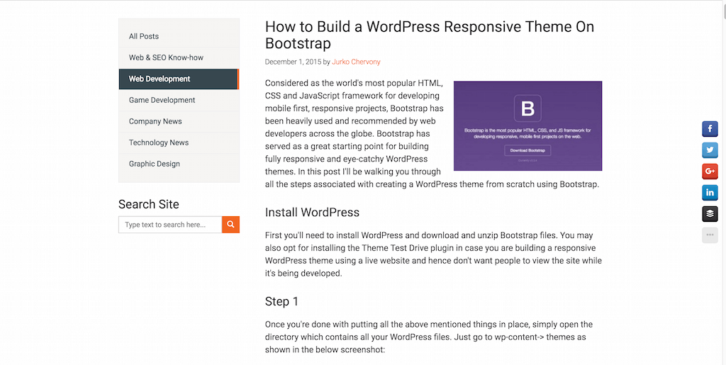 How to Build a WordPress Responsive Theme On Bootstrap
