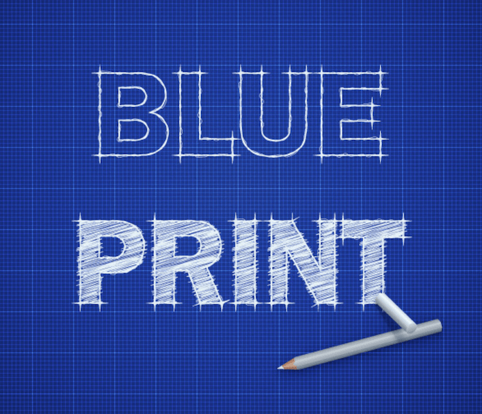 Blueprint Text Effect
