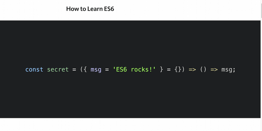 How to Learn ES6 — JavaScript Scene — Medium