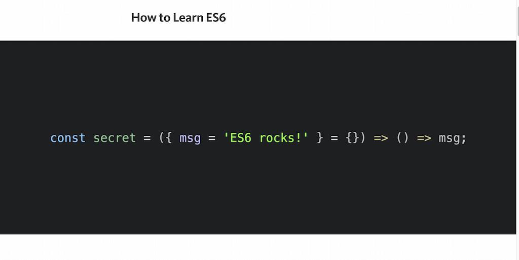 How to Learn ES6 — JavaScript Scene — Medium