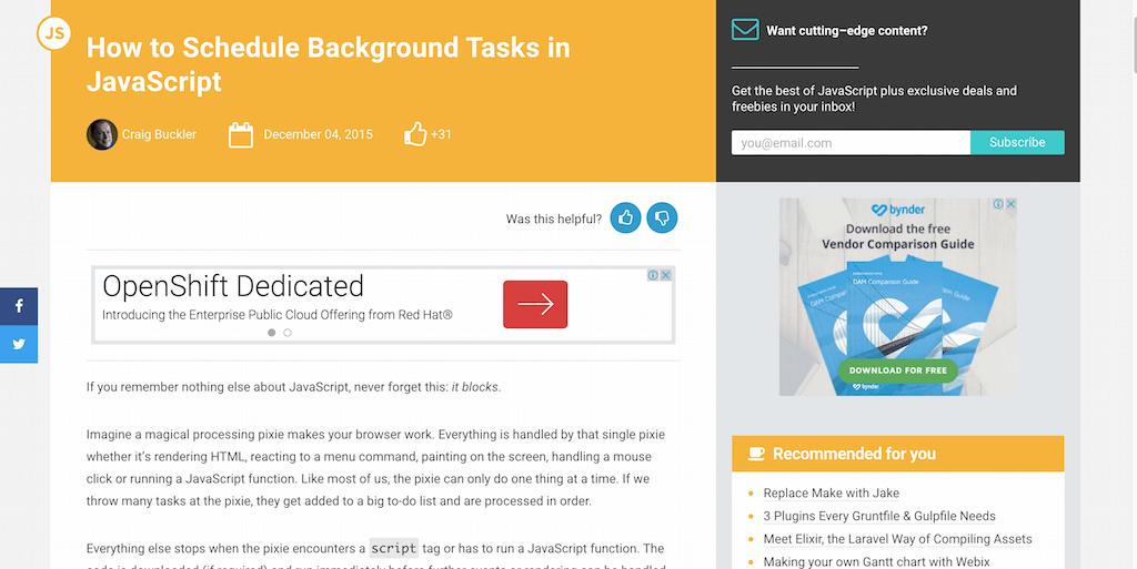 How to Schedule Background Tasks in JavaScript