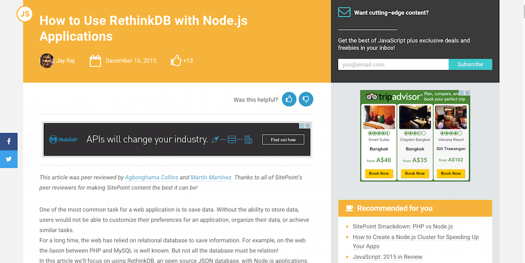 How to Use RethinkDB with Node.js Applications