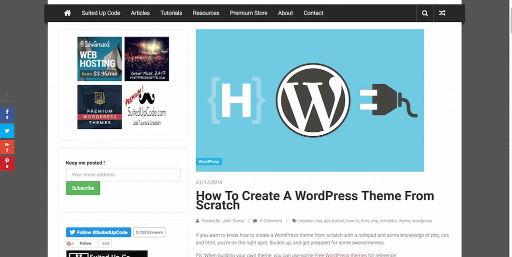 How to create a WordPress theme from scratch