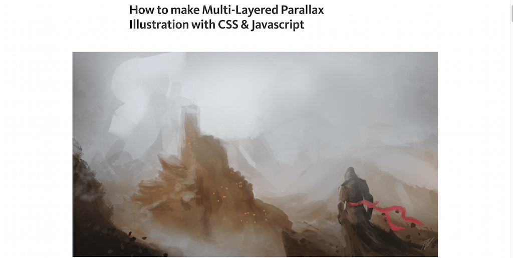 How to make Multi-Layered Parallax Illustration with CSS & Javascript