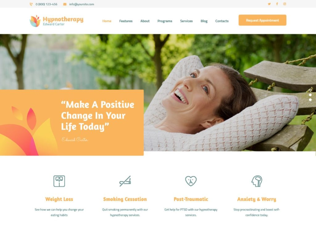 Hypnotherapy | Hypnotherapy and Psychologist Therapy WordPress Theme