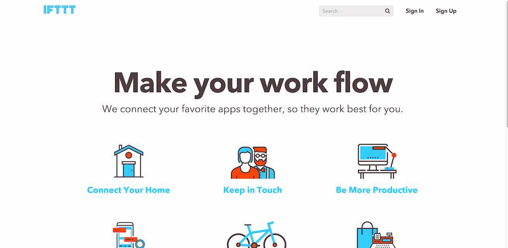 IFTTT Make Your Work Flow