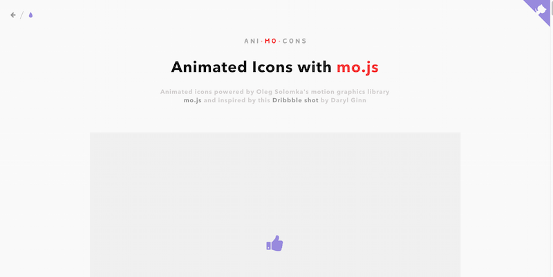 Icon Animations Powered by mo