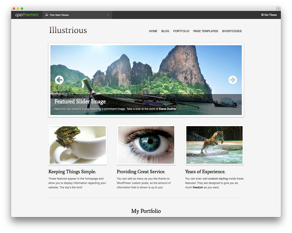Illustrious - WordPress travel themes