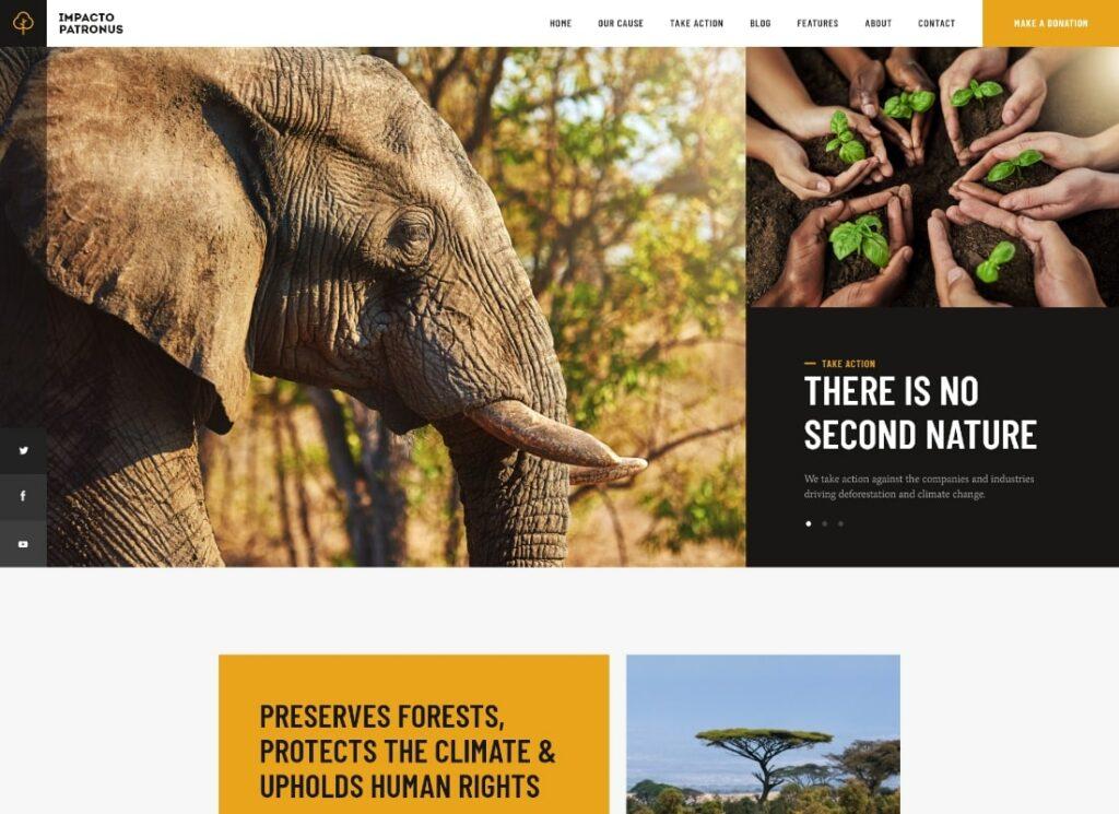 Impacto Patronus | Petitions & Social Activism WordPress Theme