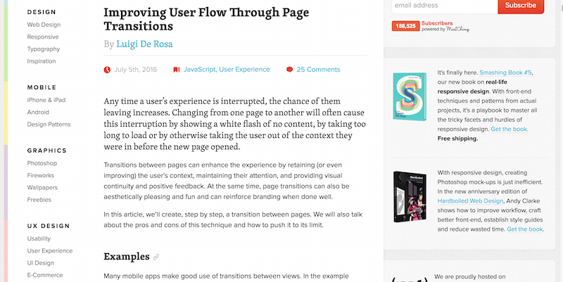 Improving User Flow Through Page Transitions