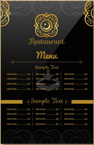 Indian Restaurant Menu Template  Free Downloadable Restaurant Menu Templates