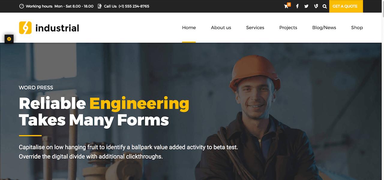 Industrial - Industry & Factory WordPress Theme