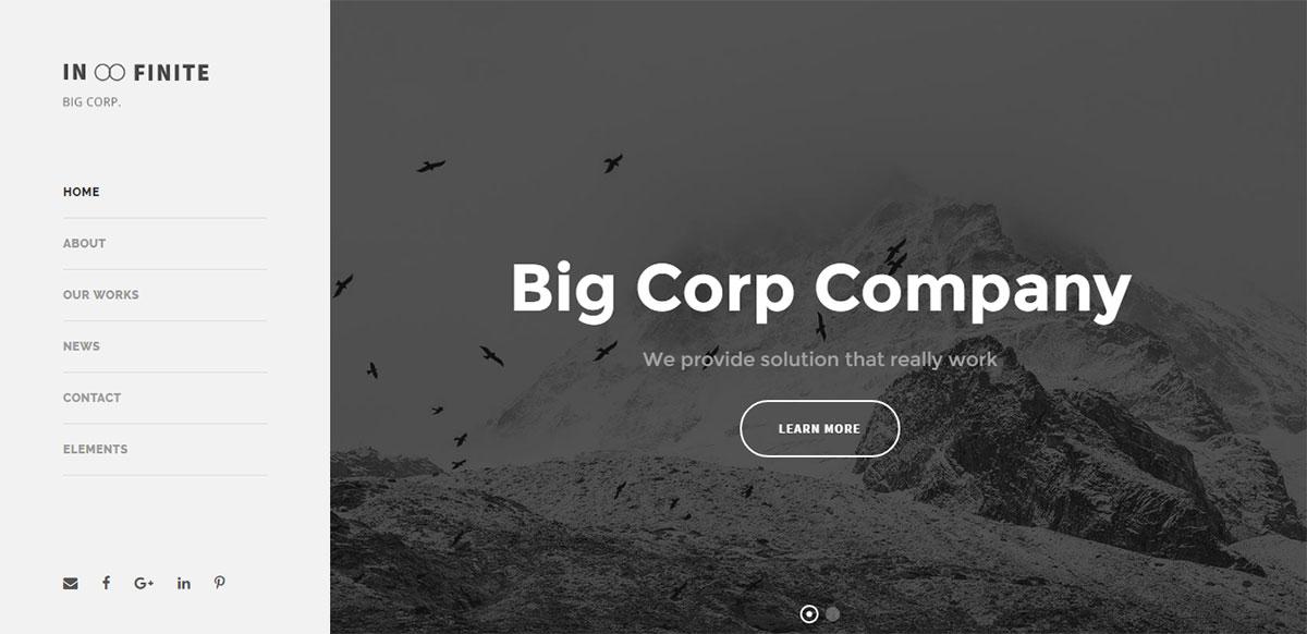 Infinite Theme Review Big Corp