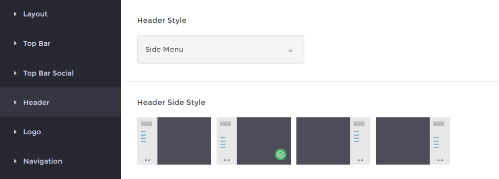 Infinite Theme Review Header Settings
