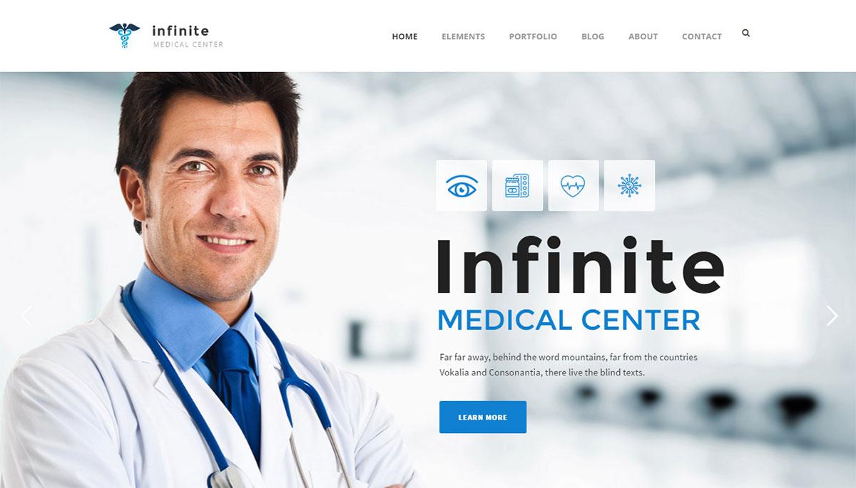Infinite Theme Review Medical Demo