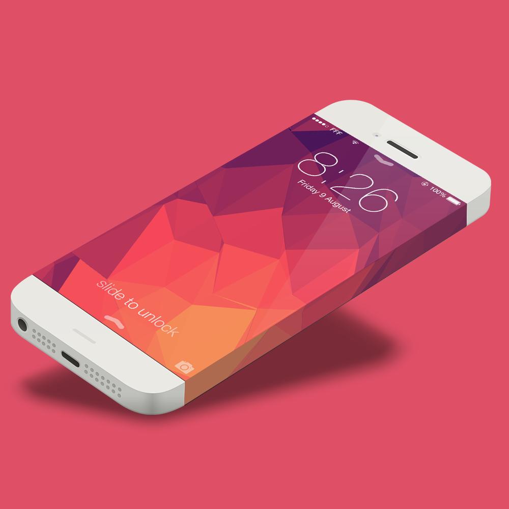 Free PSD iPhone 6 Mockup Infinity