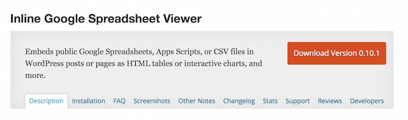 Inline Google Spreadsheet Viewer