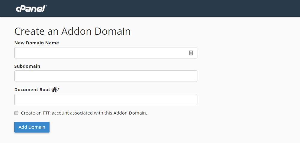Inmotion Hosting Review Add-on Domain