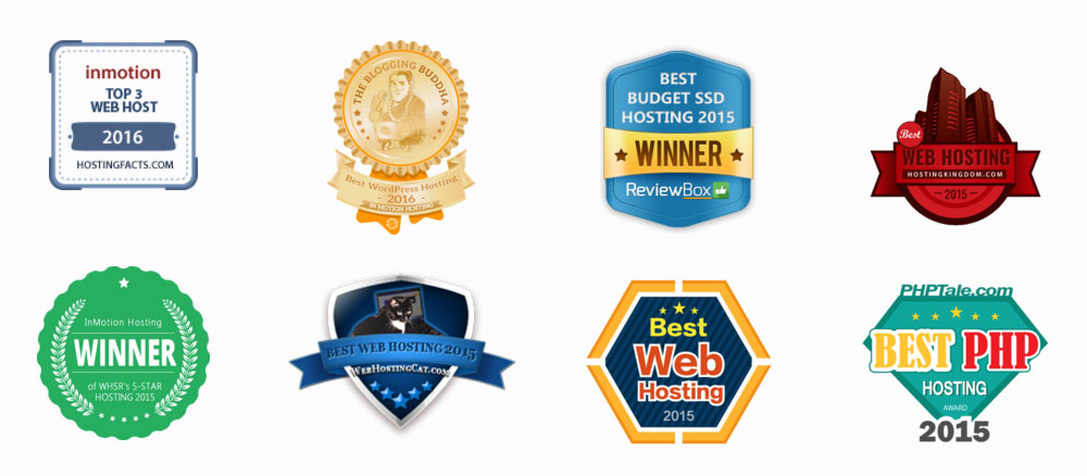 Inmotion Hosting Web Host Review Awards