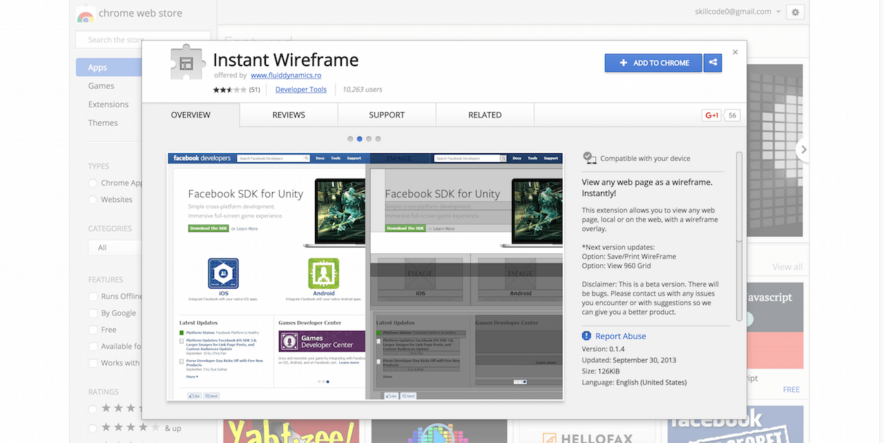 Instant Wireframe Chrome Web Store