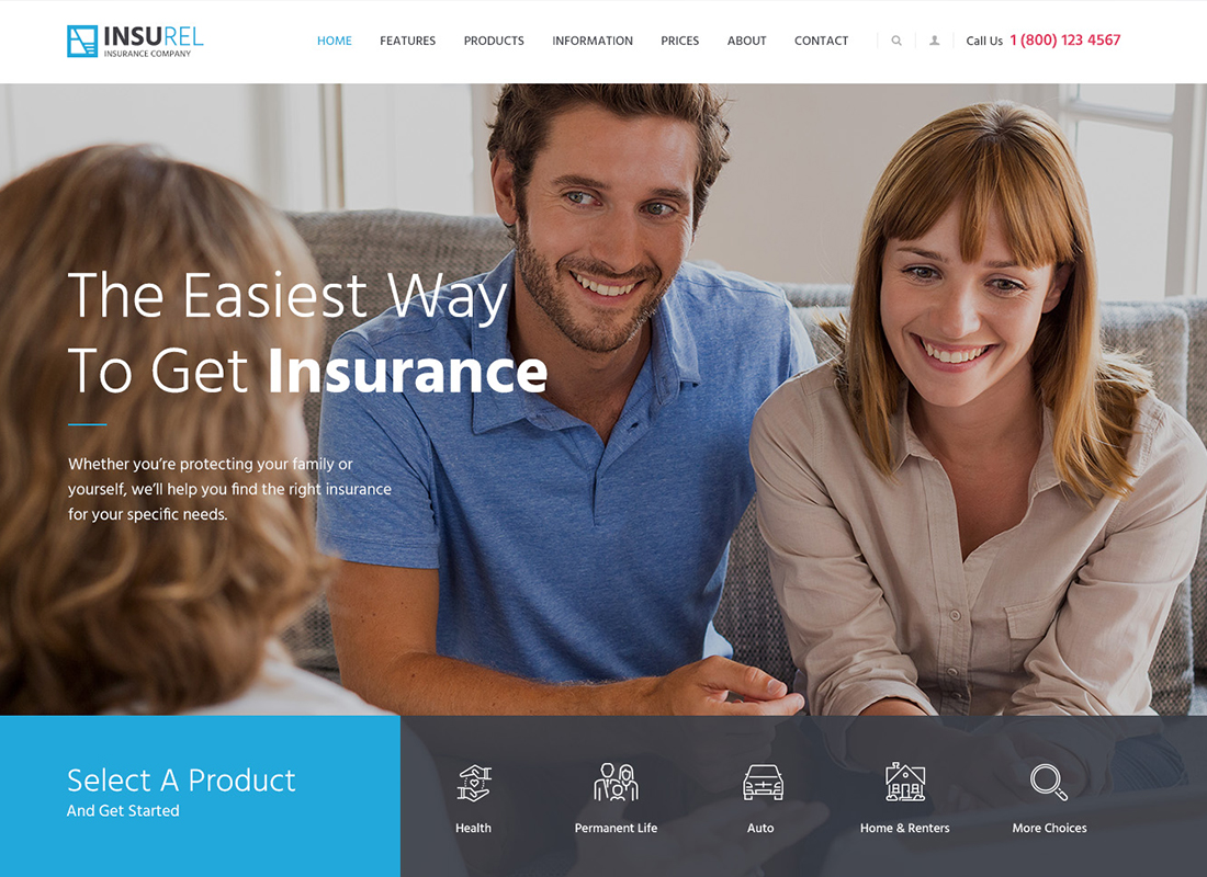 InsuRel | Insurance & Finance WordPress Theme