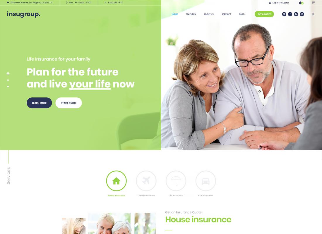 Insugroup - A Clean Insurance & Finance WordPress Theme