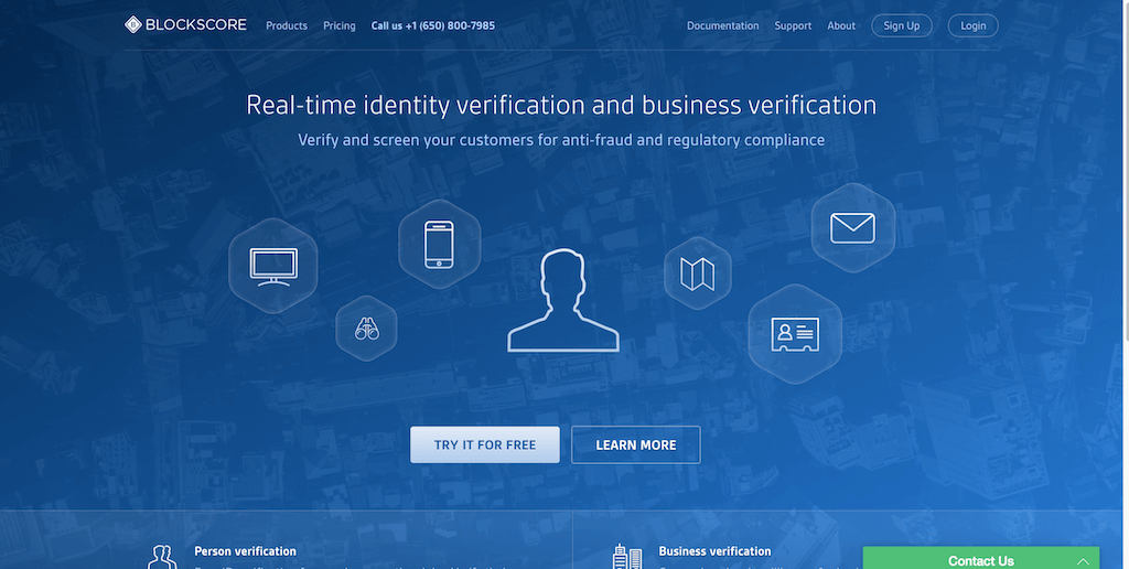 Intelligent-Identity-Verification- BlockScore-logo-design-services