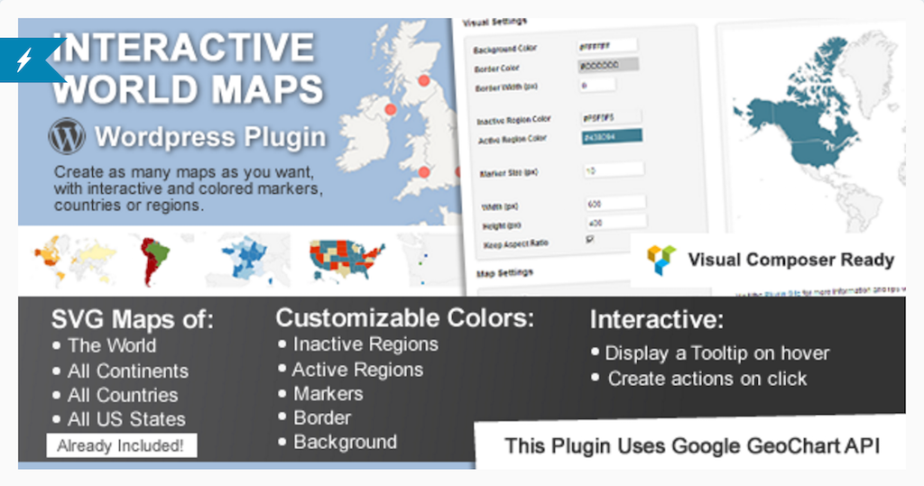 Interactive World Maps WordPress