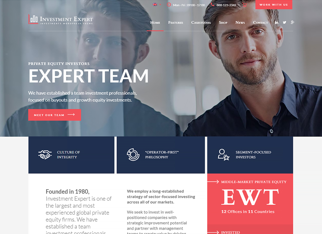 Investment Expert - Business Theme for Investment Experts in Financial Consultancy + RTL