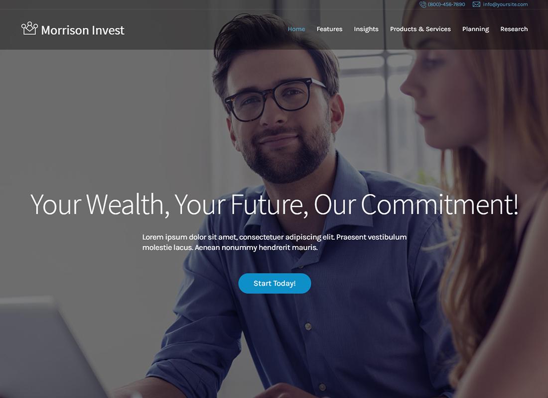 Morrison Invest | Investments, Business & Financial Advisor WordPress Theme