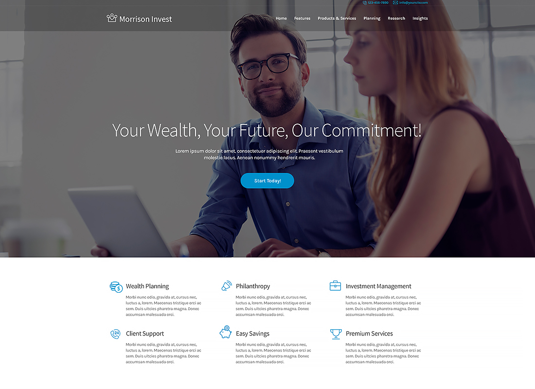 Morrison Invest - Investments, Business & Financial Advisor WordPress Theme