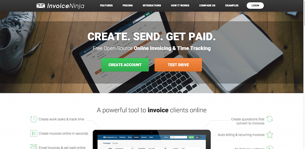 Invoice Ninja Free Open Source Invoicing Time Tracking