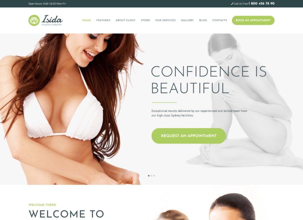 Isida | Plastic Surgery Clinic | Medical WordPress Theme