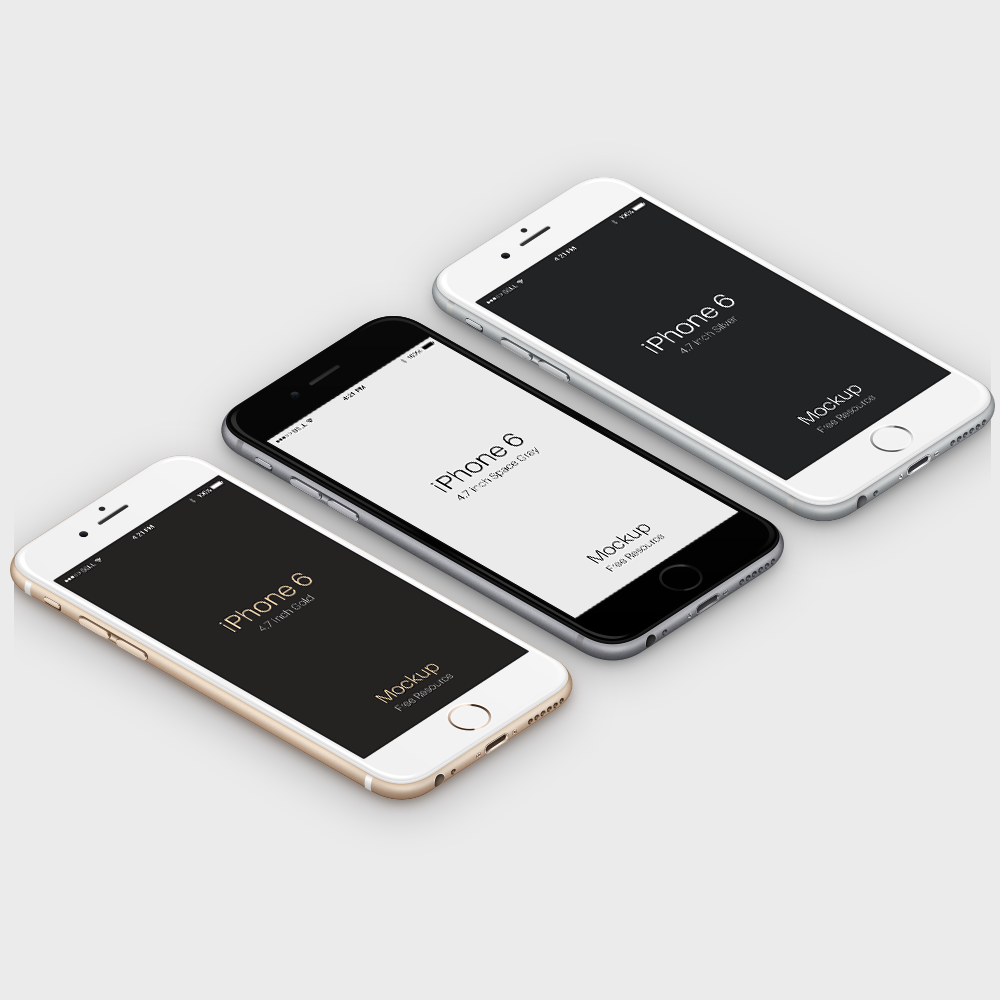30 Free PSD iPhone 6 Mockup Templates 2017 - Colorlib