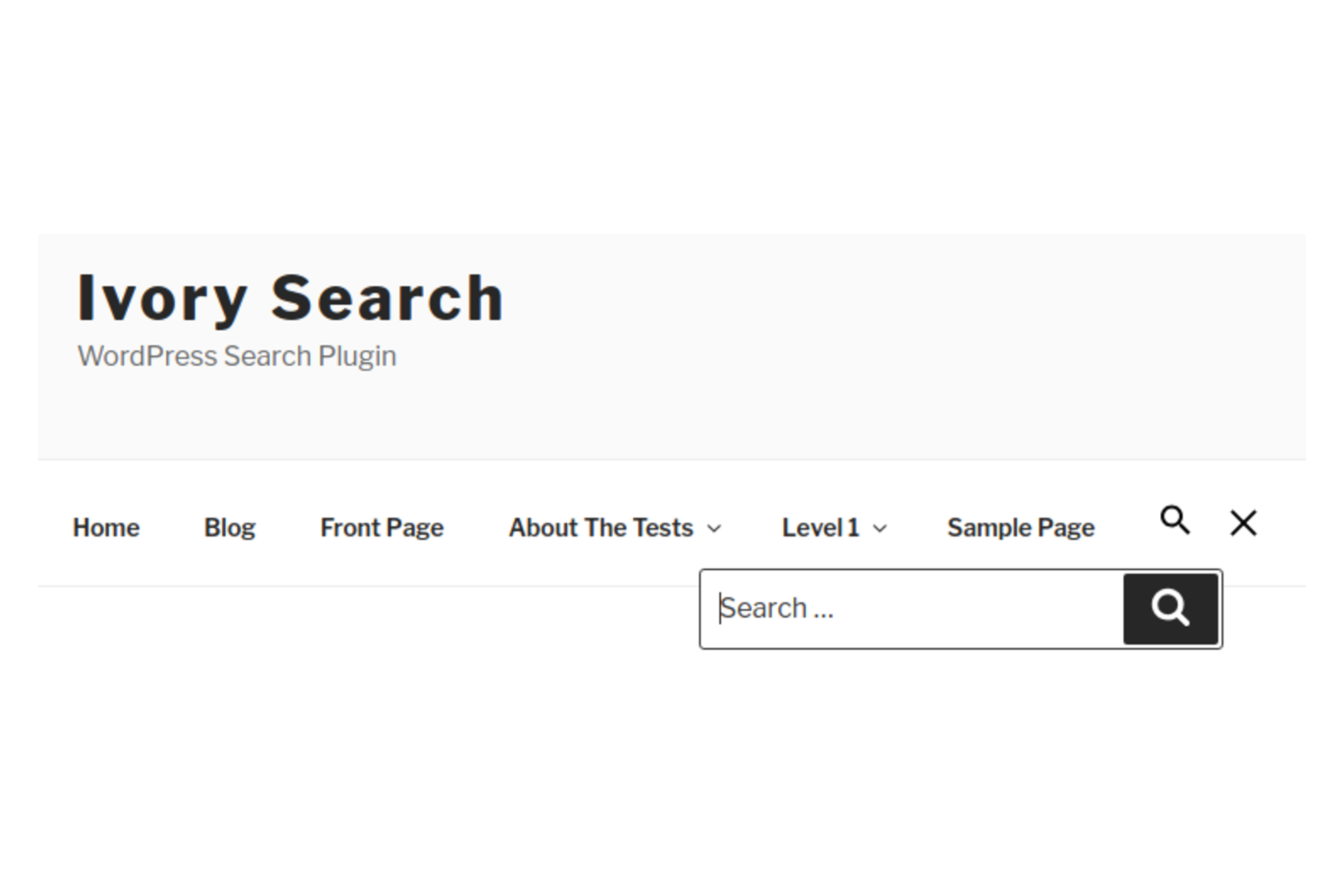 Easy-To-Use Ivory Search – WordPress Search Plugin