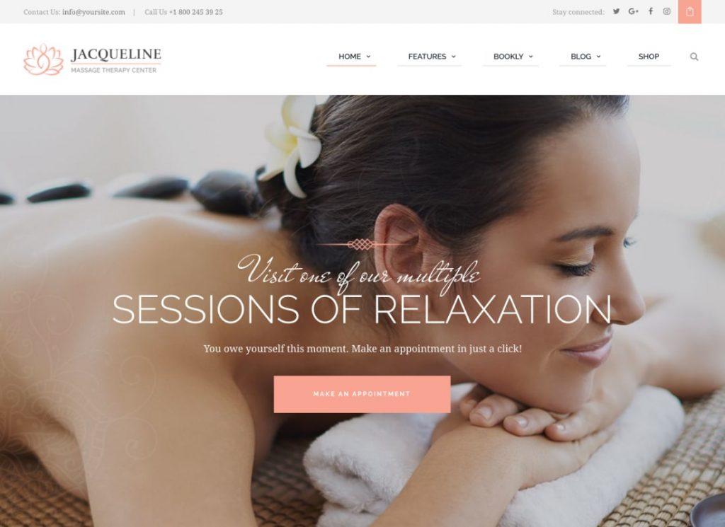 Spa & Massage Salon Beauty WordPress Theme