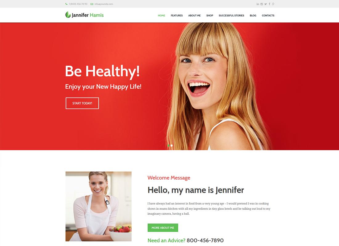 Jannifer Hamis | Health Coach Blog & Lifestyle Magazine WordPress Theme