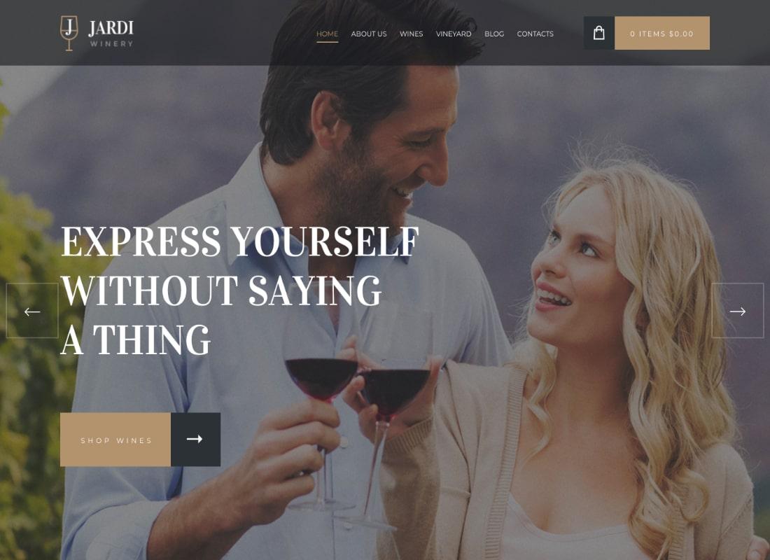Jardi | Winery, Vineyard & Wine Shop WordPress Theme