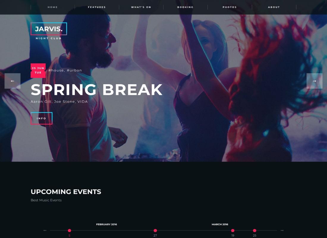 Jarvis - Night Club, Concert, Festival WordPress Theme