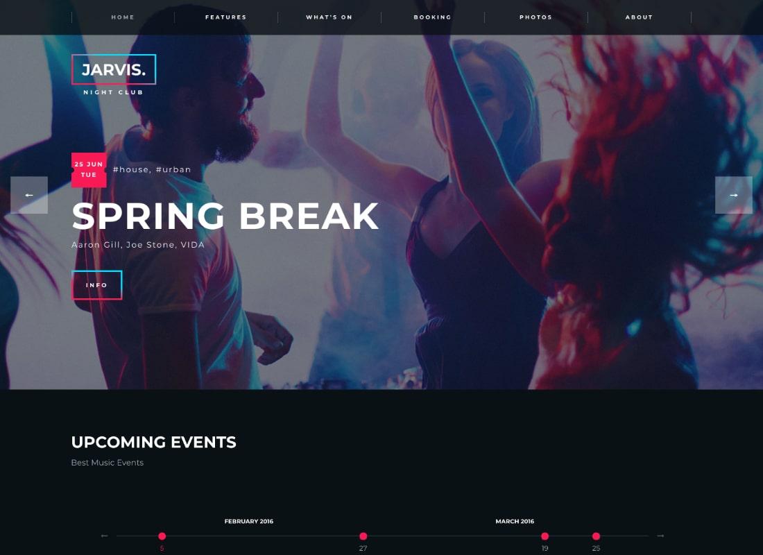Jarvis | Night Club, Concert, Festival WordPress Theme