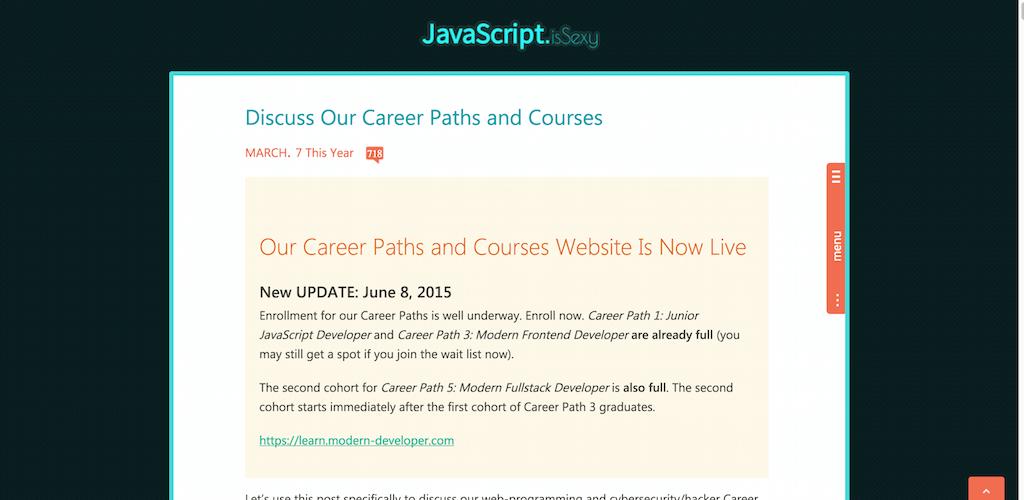 JavaScript is Sexy Learn modern web application development with JavaScript