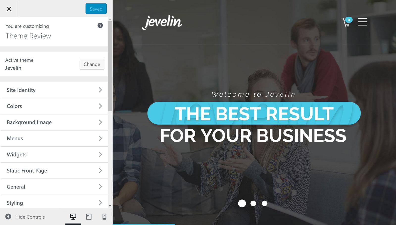 Jevelin Customizer