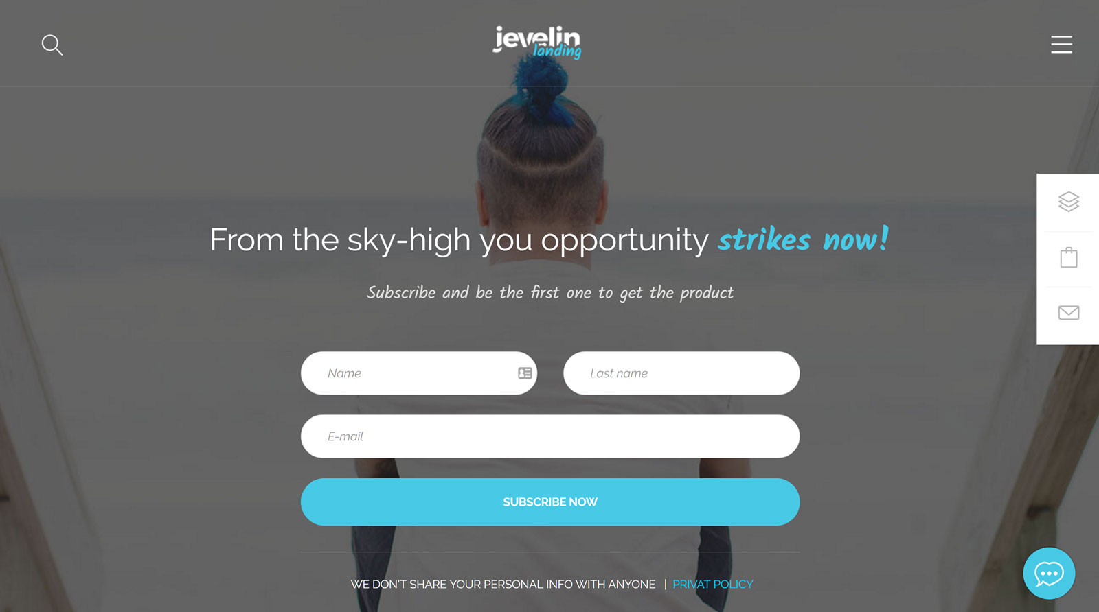 Jevelin Landing Page Demo