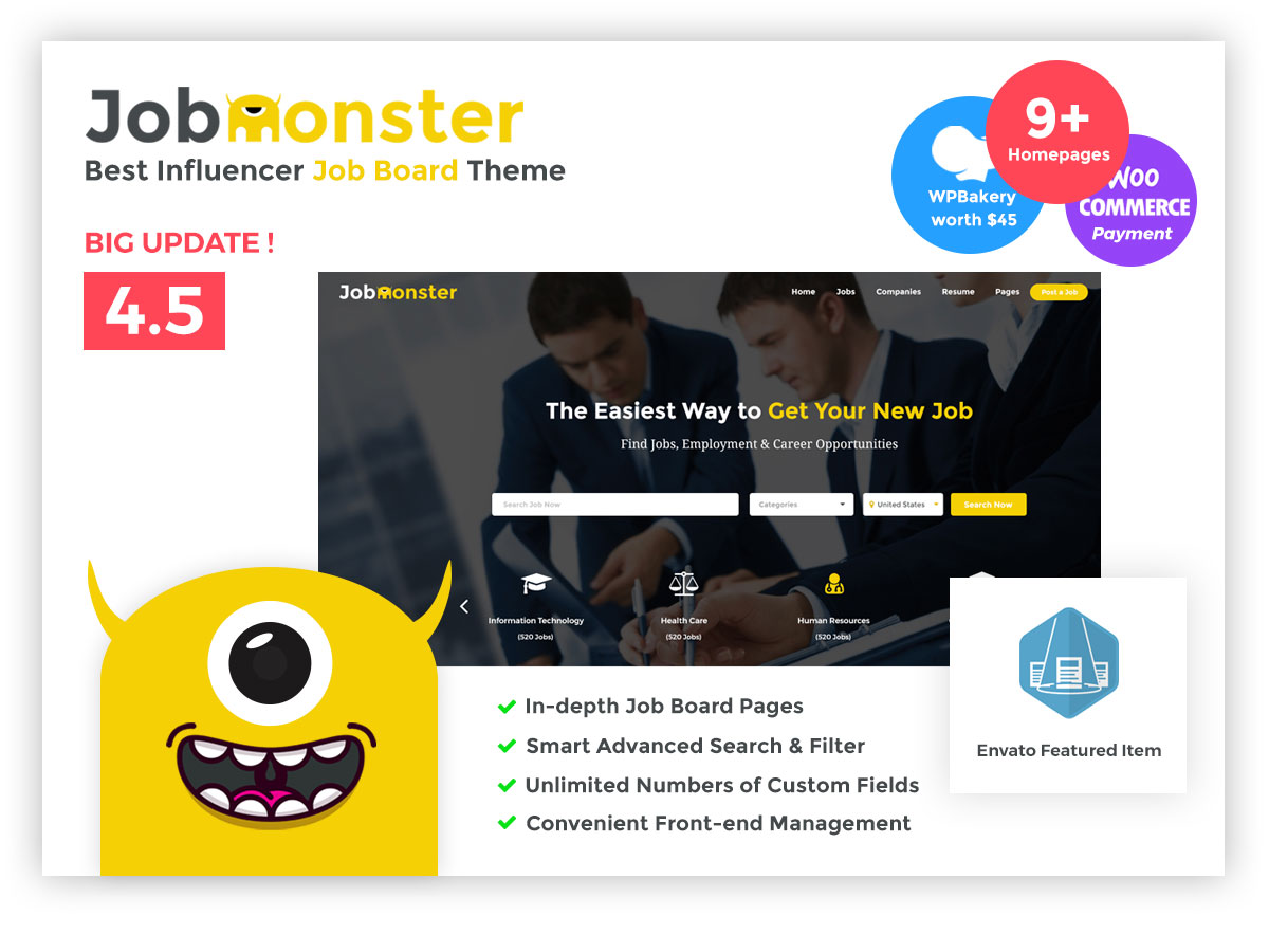 With JobMonster, Site Administrators Can First Review Every Single Job That  Is Intended For Publishing. Every Website Must Display Relevant  Information, ...