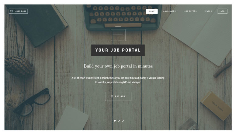 Jobs Dojo Theme Review Homepage