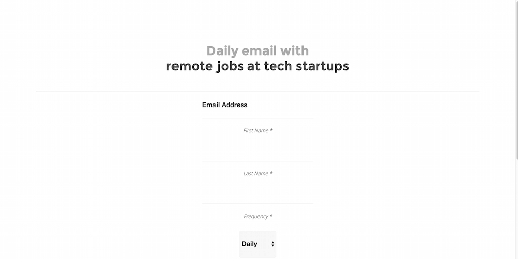 Jobscribe Daily email with remote jobs at tech startups.