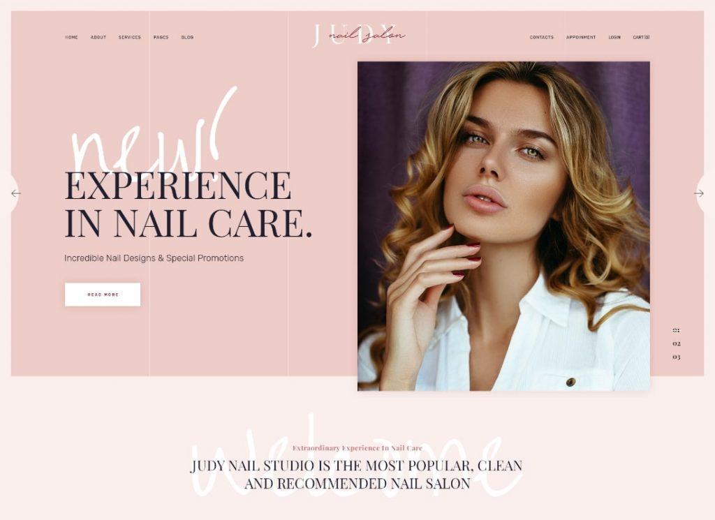 Nail Bar & Beauty Salon WordPress Theme