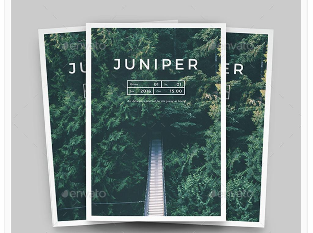 Maqueta de revistas: Portafolio de la revista Juniper