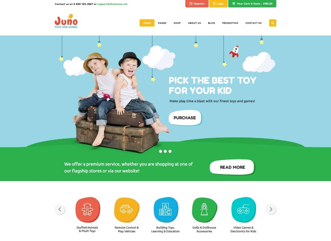 Juno | Kids Toys & Games Store WordPress Theme
