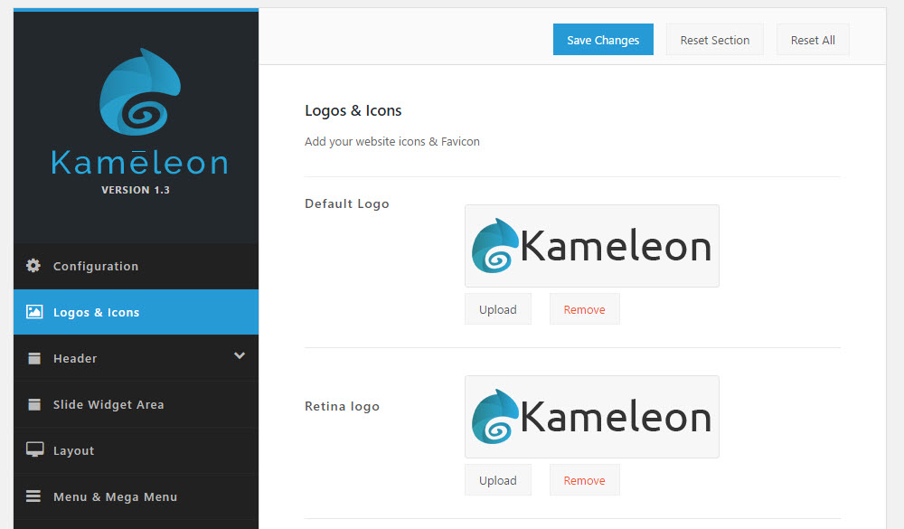 Kameleon Theme Options 01